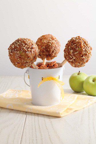Manzanas cubiertas con nuez