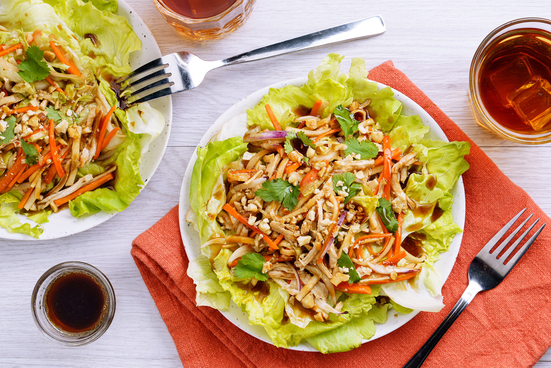 Oyster Asian-Style Salad (Chicken and Lettuce) from the Philippines
