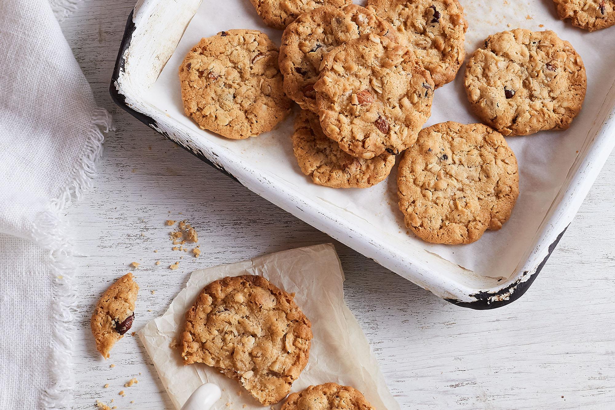 Cookies de avena y frutas secas
