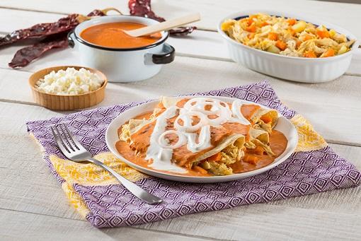 Enchiladas cremosinas deslactosadas