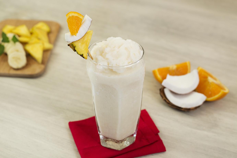 Frappe de coco tropical