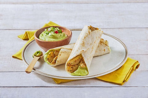 Tacos de pollo a la leña con guacamole