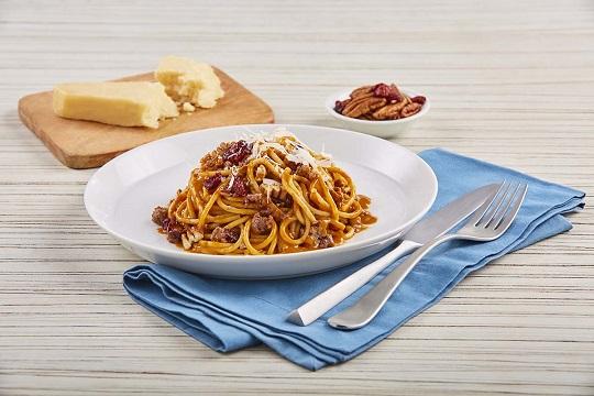 Spaguetti con salsa de 3 chiles