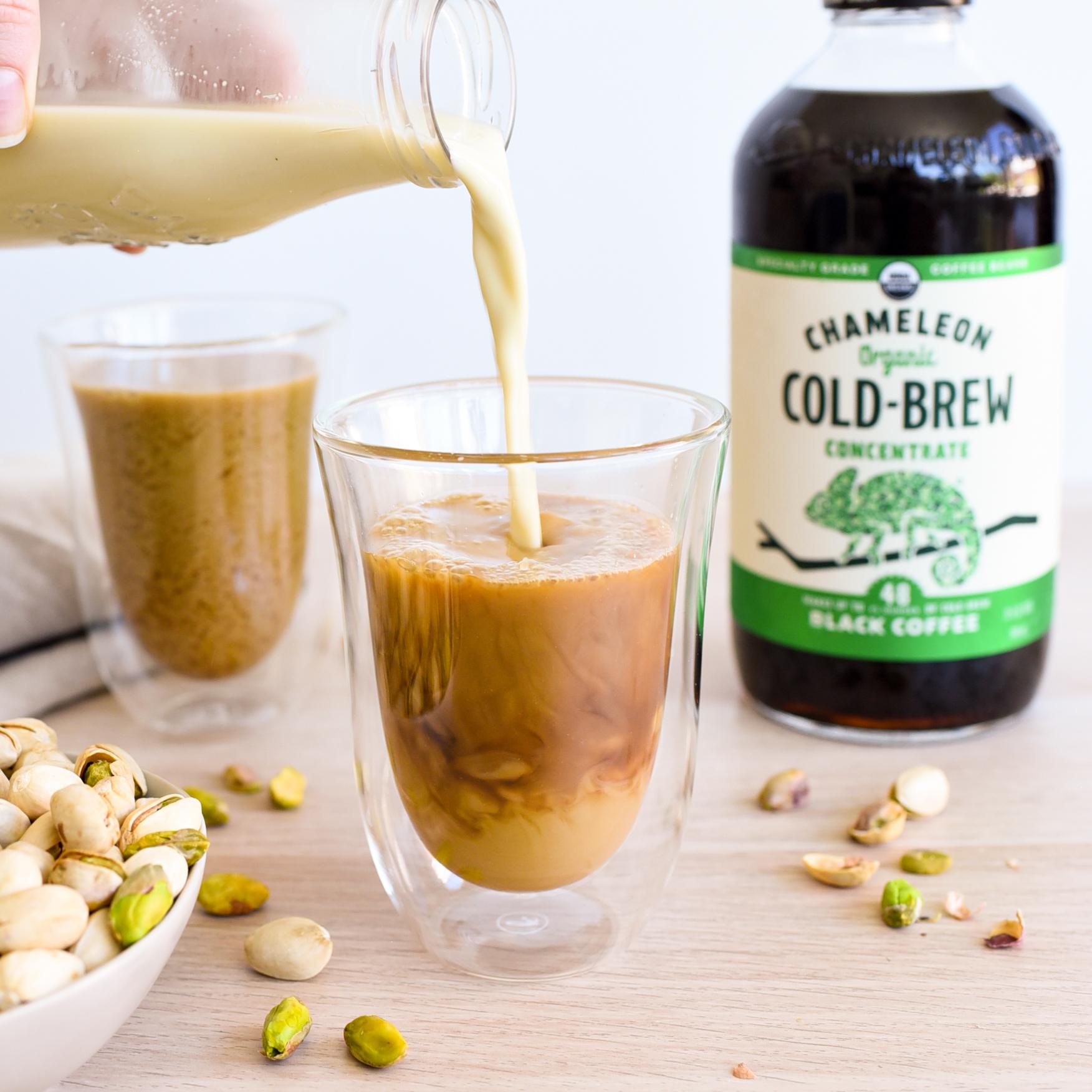 Vegan Pistachio Cold Brew Latte
