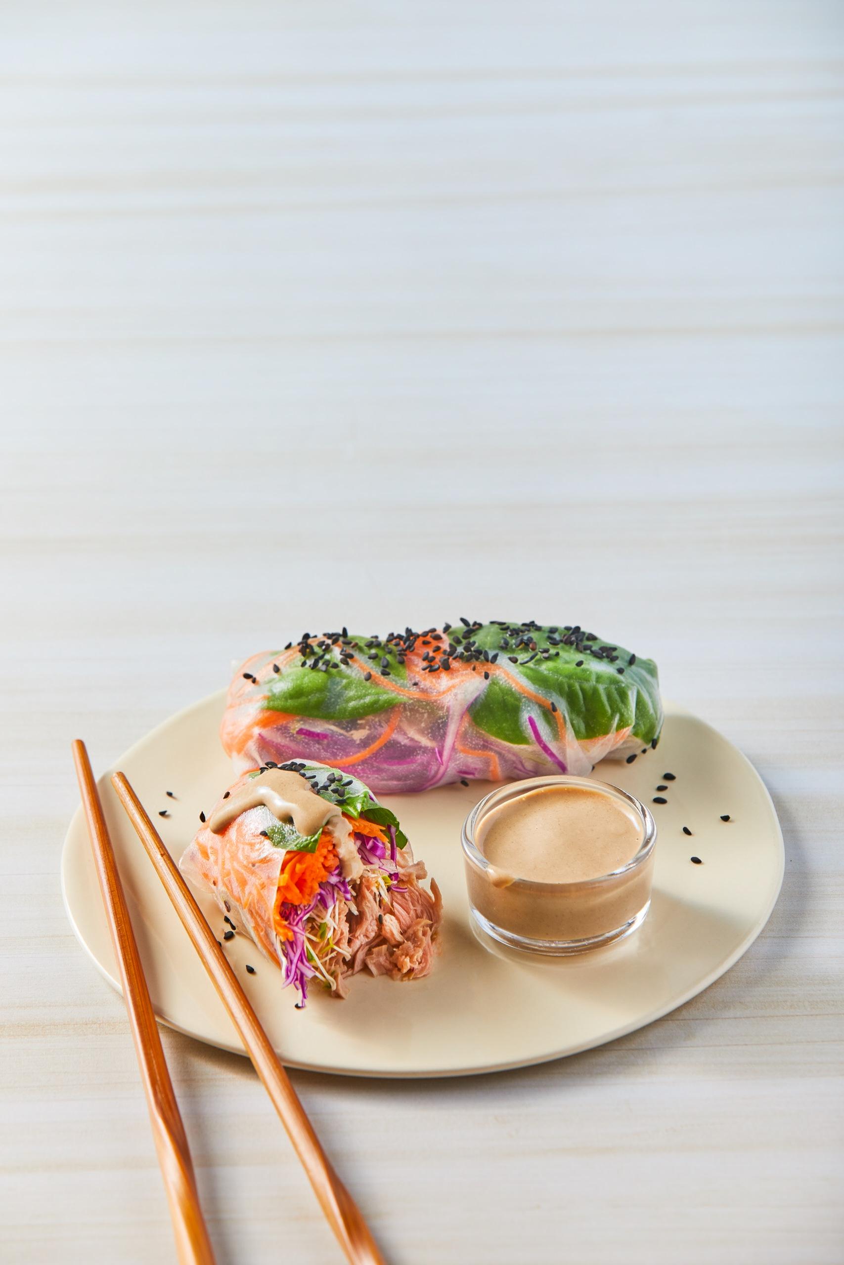 Rollitos de verduras y atún