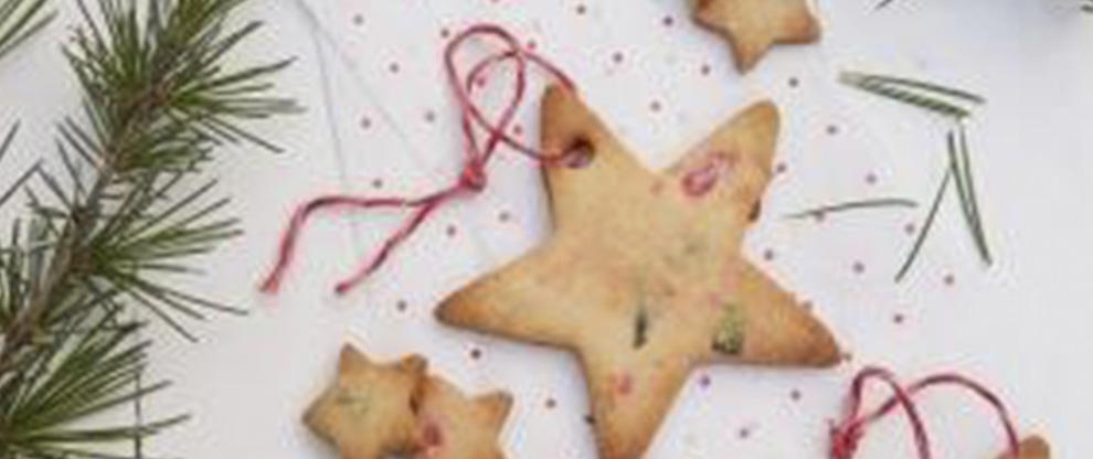 Galletas de estrella decoradas