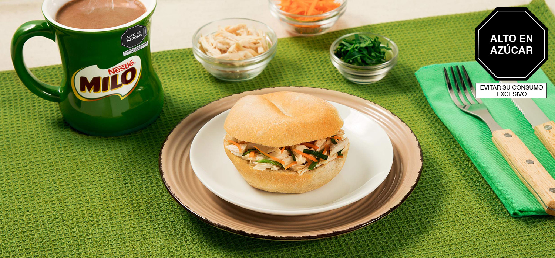Sándwich de Pollo y Espinaca