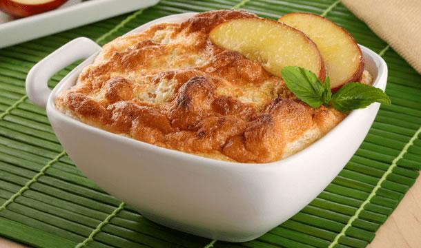 Soufflé de manzana