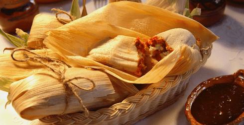 Tamales de queso con chile