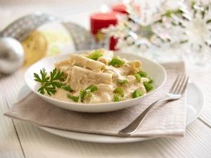 Macarrones en salsa de jaiba