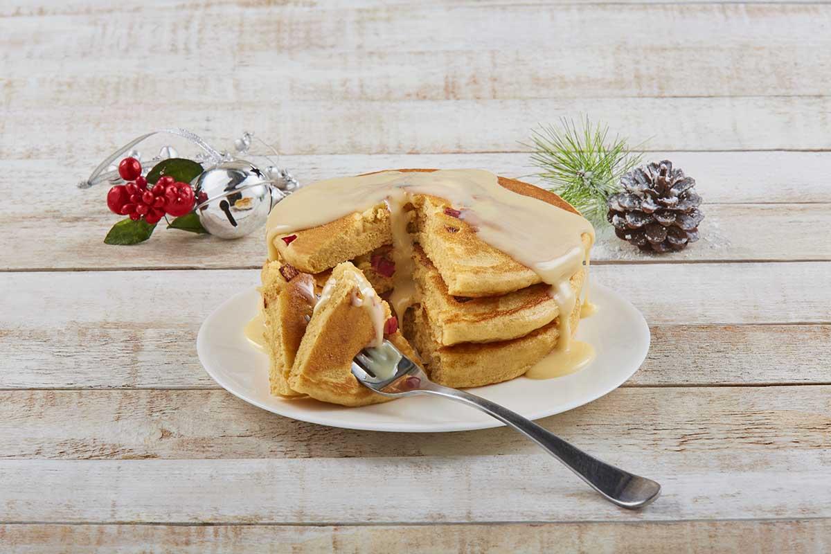 Hot cakes manzana canela