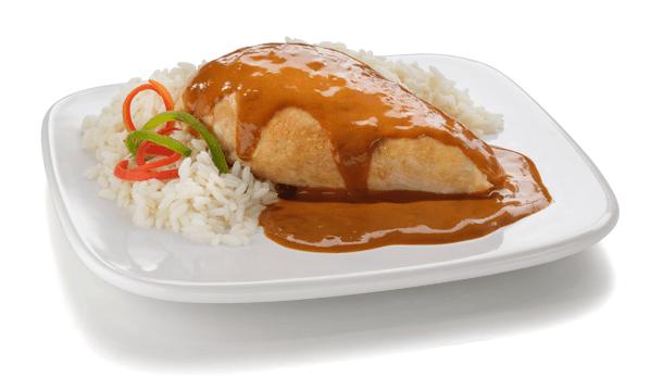 Pollo en salsa de chiles y ajo