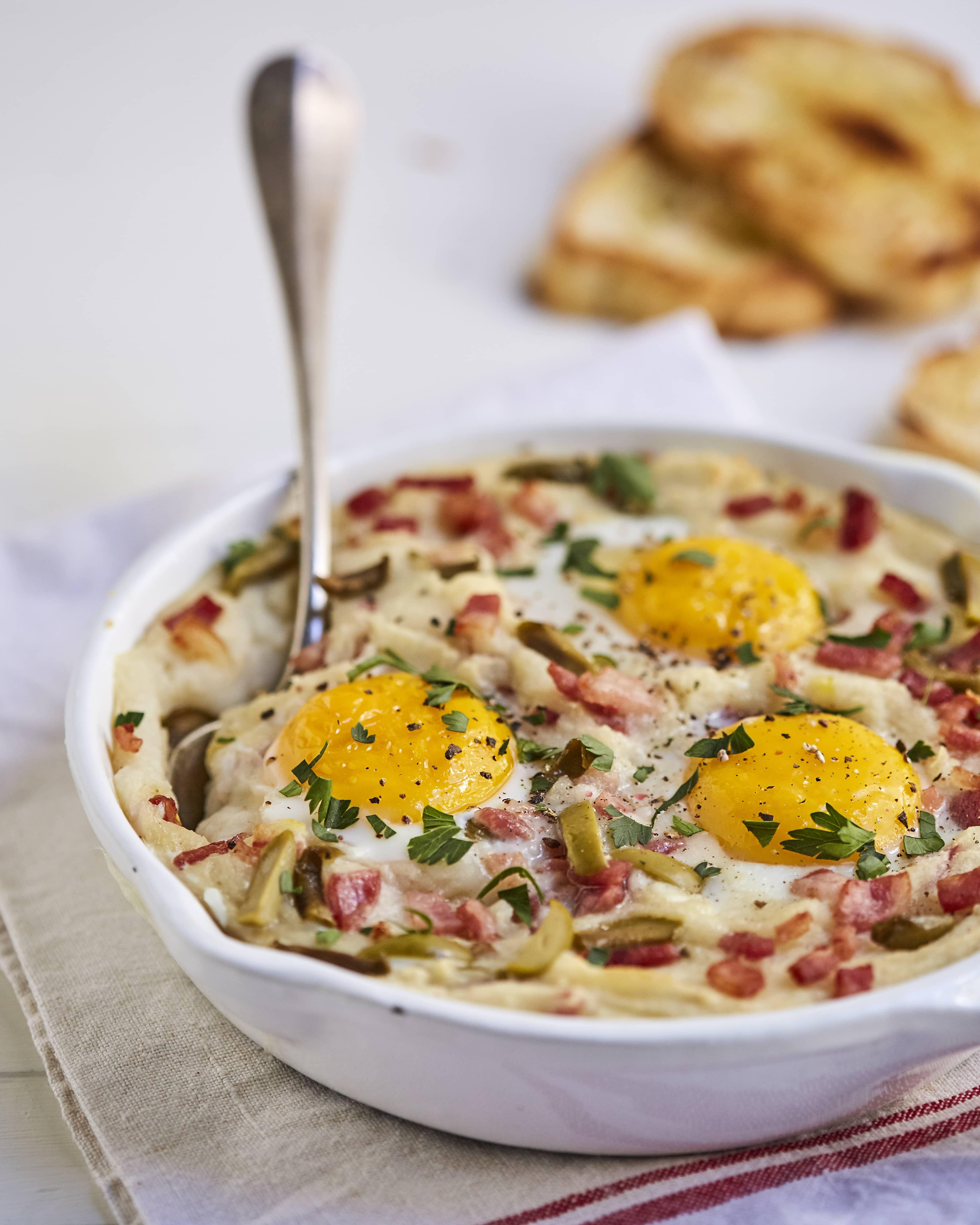 Huevos Cocidos al Puré
