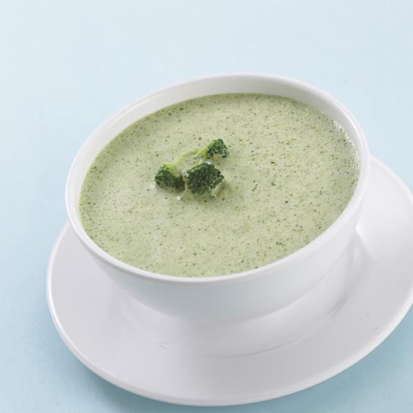 Crema de brócoli con espinacas