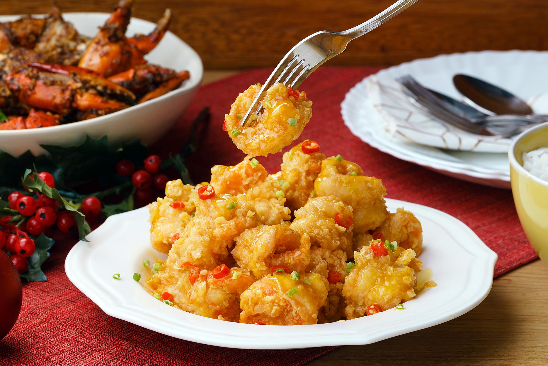Salted Egg Shrimps
