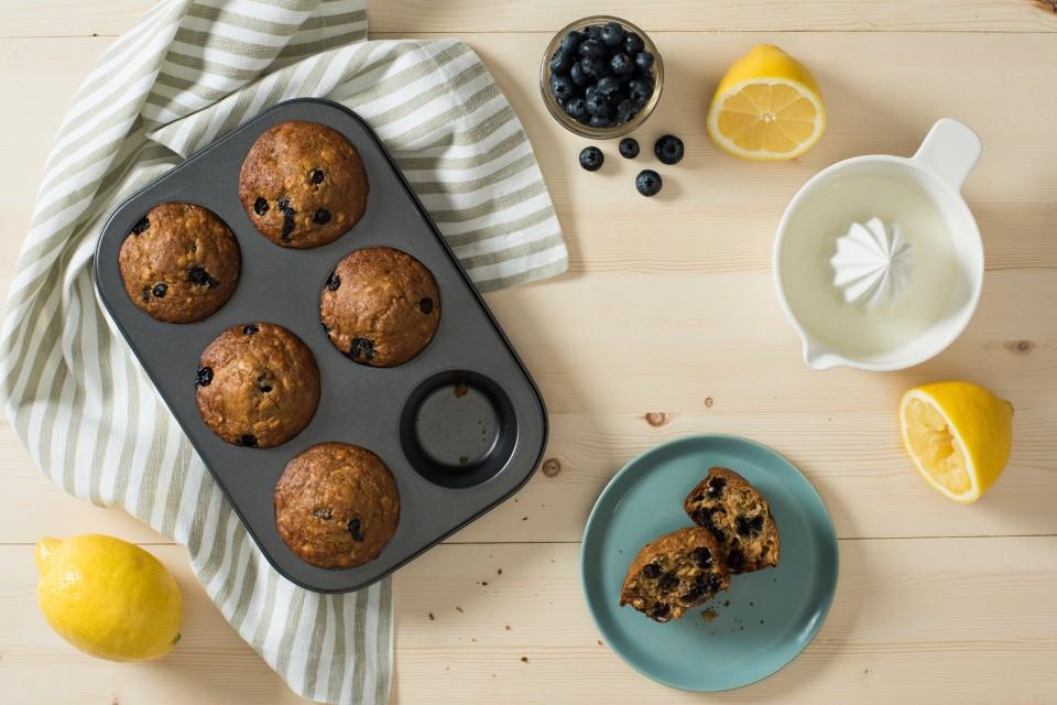 Muffins au citron, aux bleuets et à l'avoine avec BOOST Hyperprotéiné