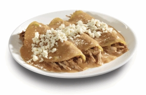 Enchiladas rellenas de carne