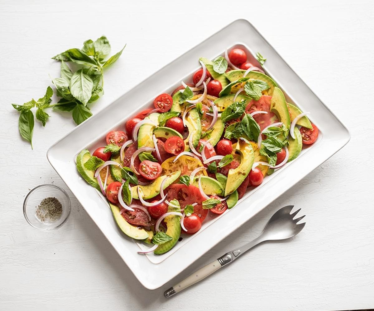 Tomato, Mint, Basil & Avocado Salad