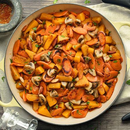 Quick Braised Winter Vegetables