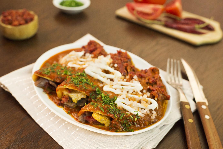 Enchiladas tricolor