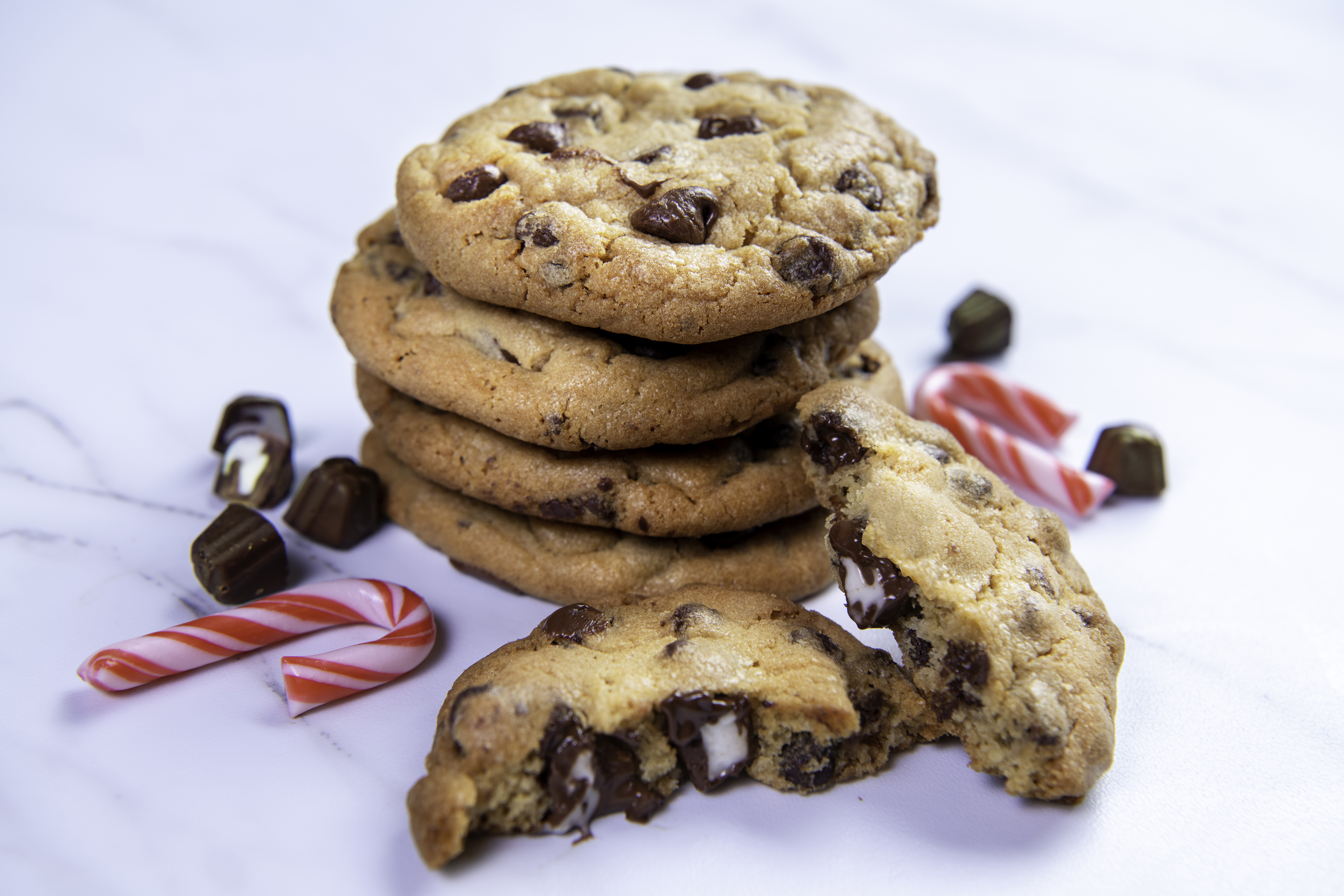 Mint Candy Stuffed Cookies