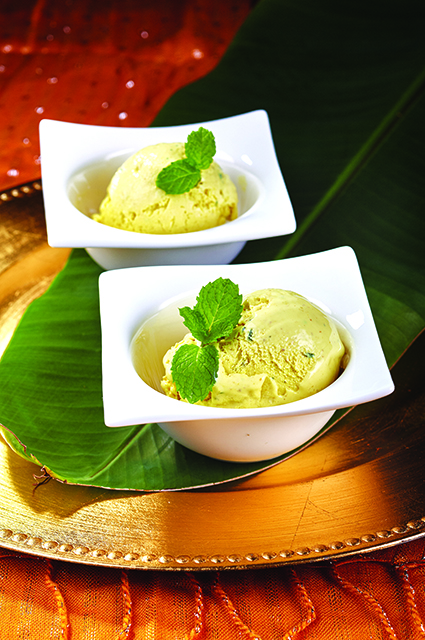 Curry and Mint Ice cream