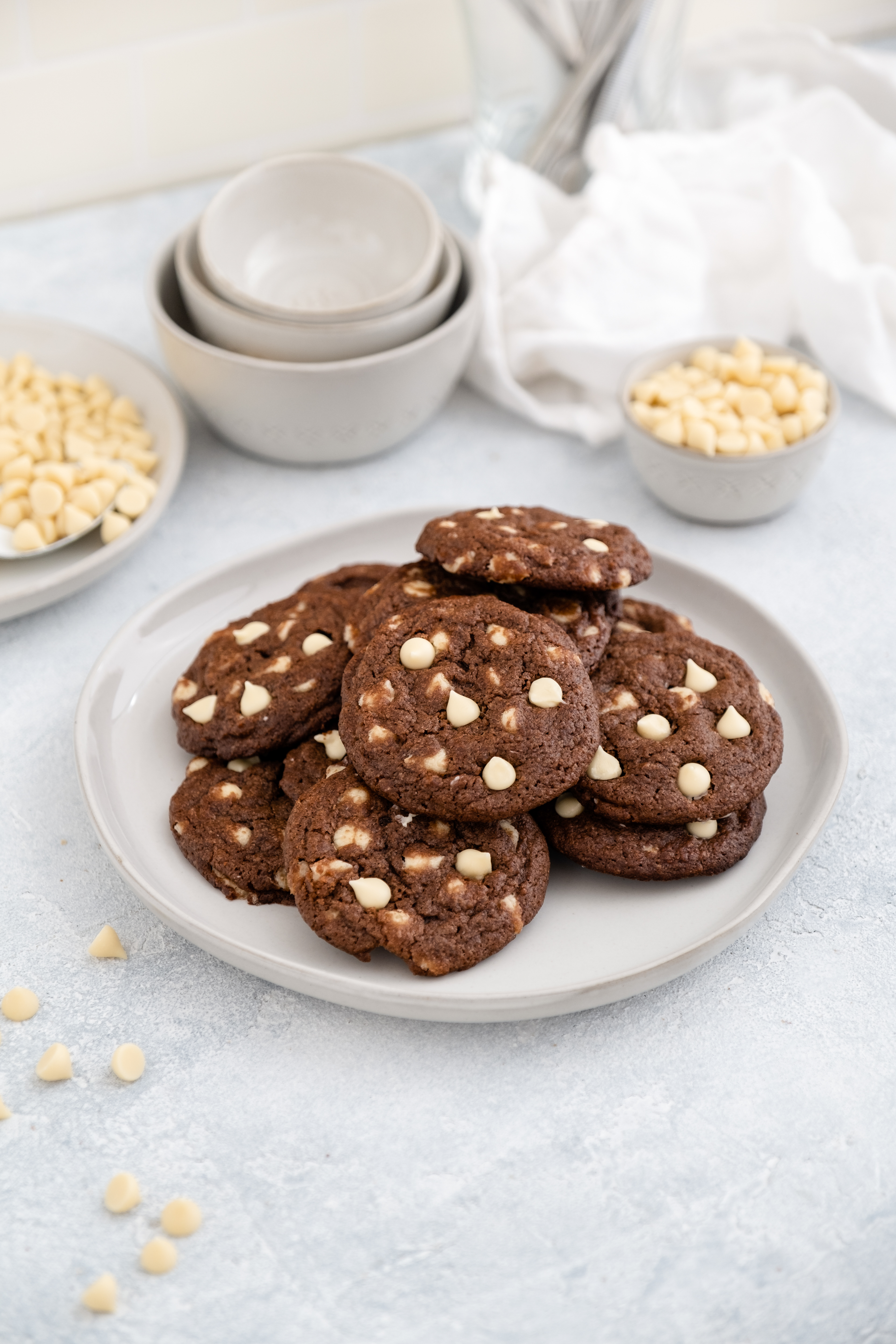 Allergen Free Chocolate Cookies with White Morsels