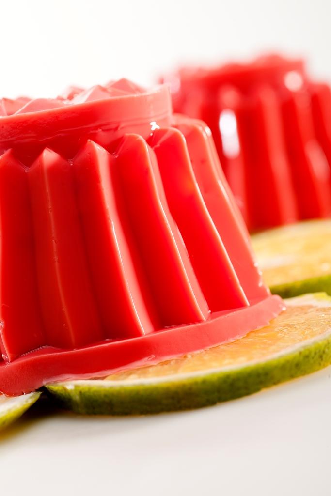 Postre de gelatina cremoso
