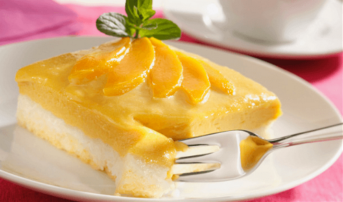 Pastel de arroz con mango