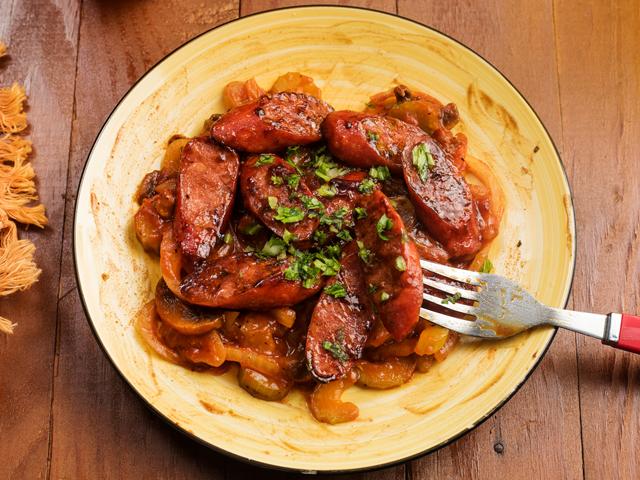 Chorizo con Champiñones