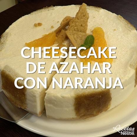 Cheesecake de azahar con naranja