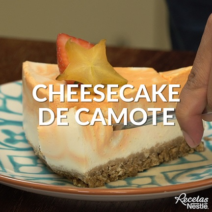Cheesecake de camote