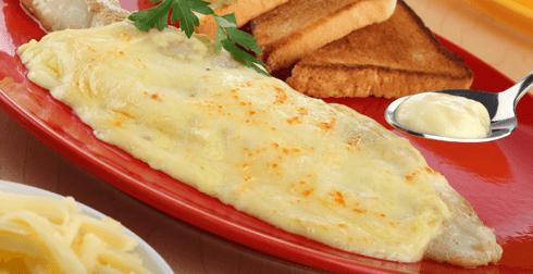 Sierra al horno con queso