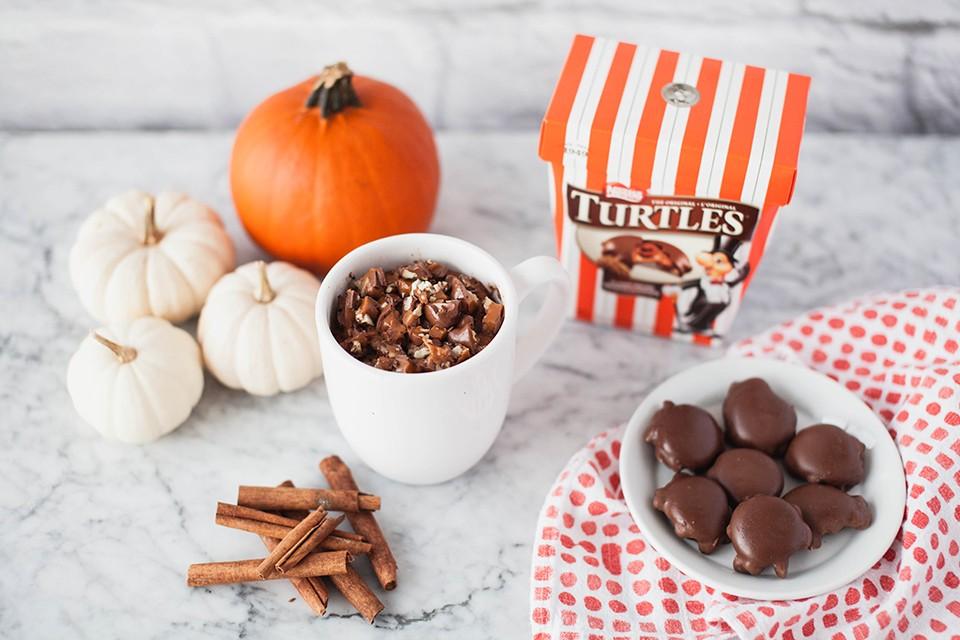 TURTLES Pumpkin Mug Cake