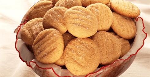 Galletas de mantequilla y cacahuate