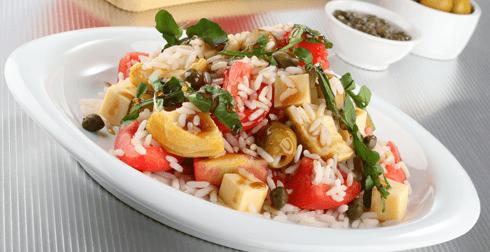 Ensalada de arroz y queso