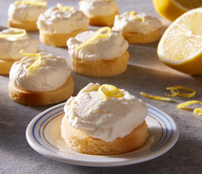 Cupcakes sin hornear de limonada congelada