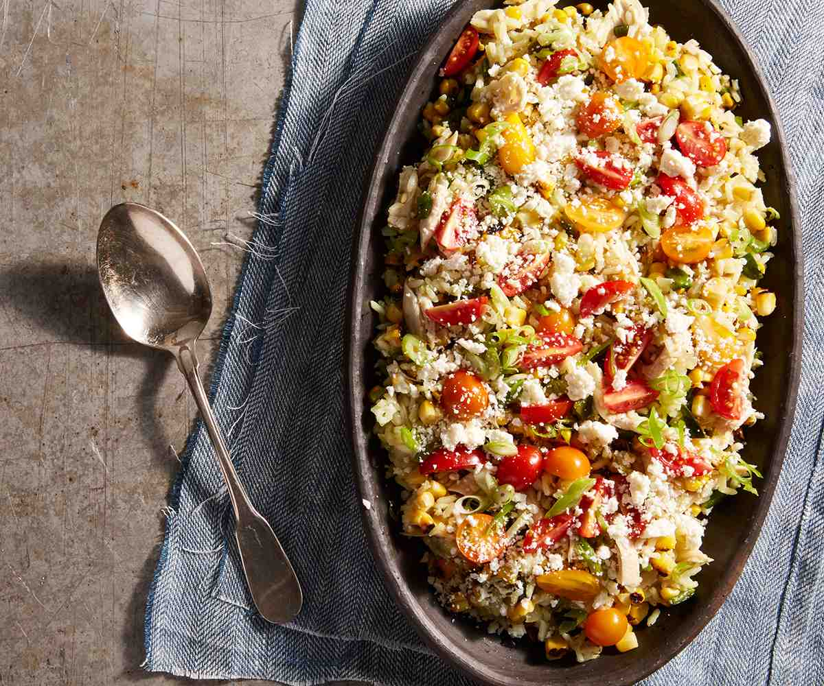 Poblano, Corn, Chicken & Rice Salad image