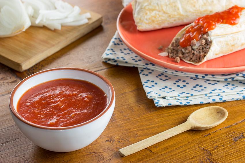 Salsa de morita y tomate para chimichangas