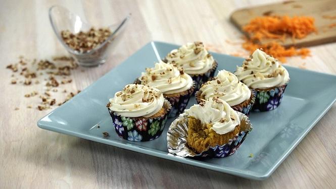 cupcakes de zanahoria con betun