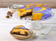 Mirror pumpkin cheesecake