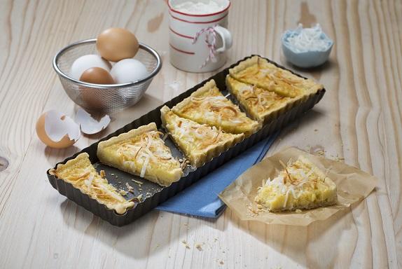 Tartaletas de coco deslactosadas