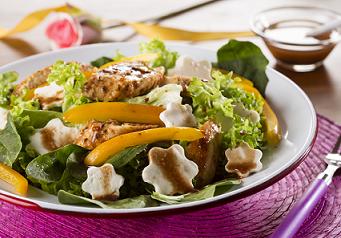 Ensalada de pollo con vinagreta de tamarindo
