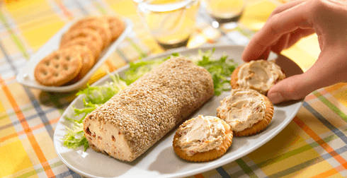 Rollo de queso con chipotle