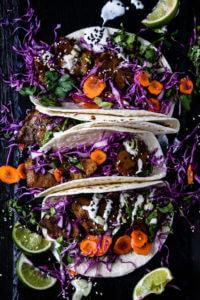 Korean Style Vegan Tacos