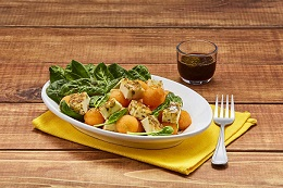 Ensalada de queso espinaca y mélon
