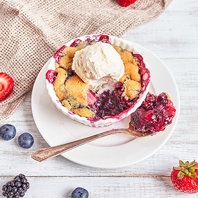 Individual Berry Cobblers