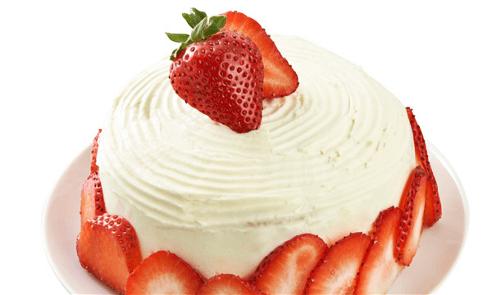 Pastel de fresas con crema
