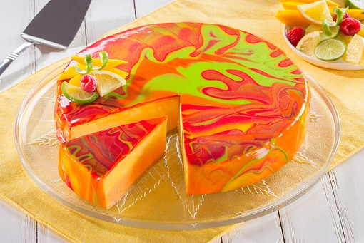 Mirror tropical cheescake