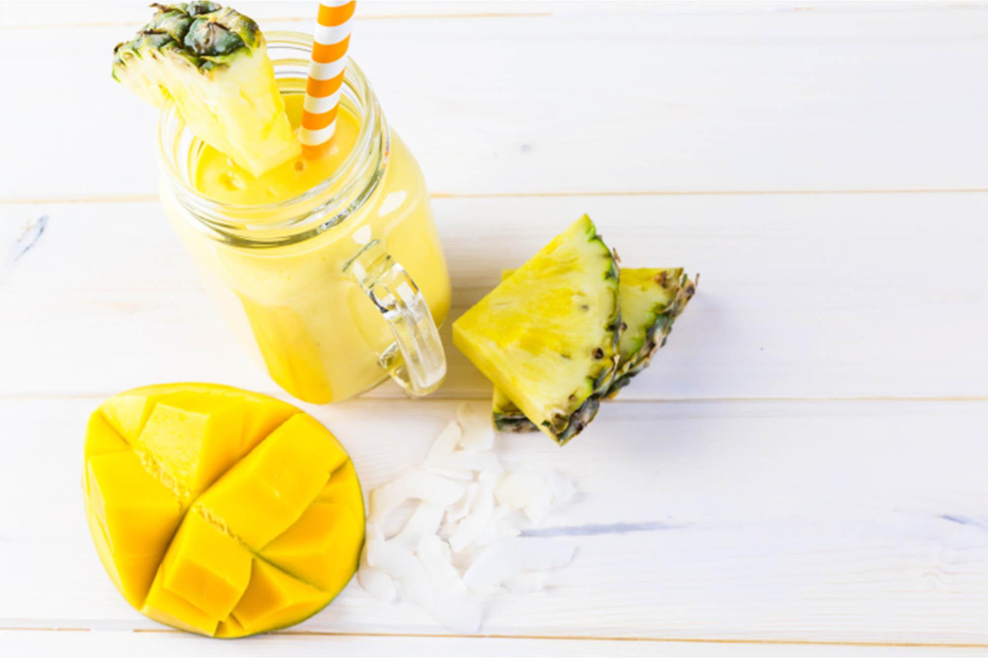 Smoothie de ananá y mango